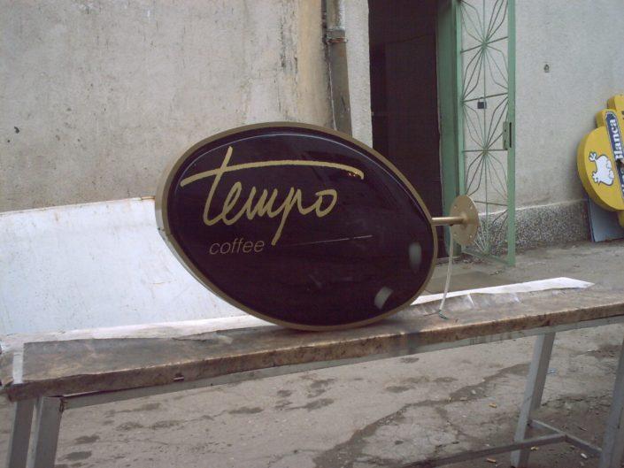 Стандартна светеща табела за Tempo coffee