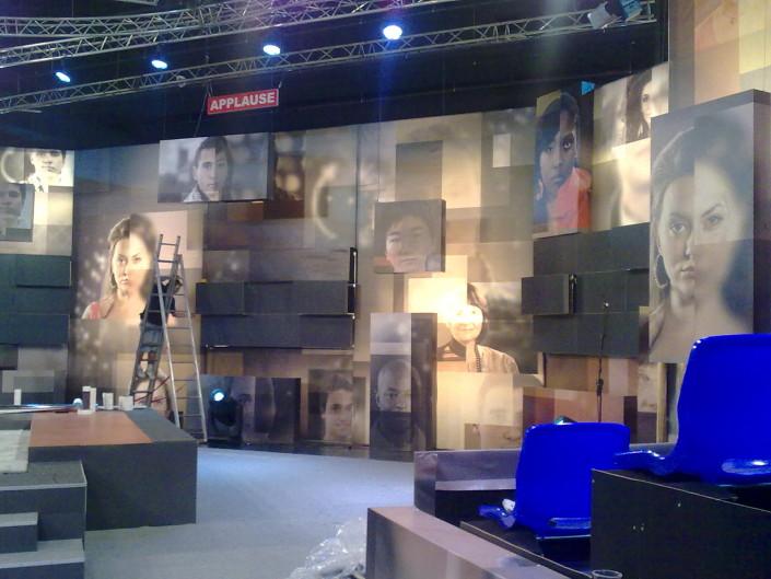 Декор за ТВ студио