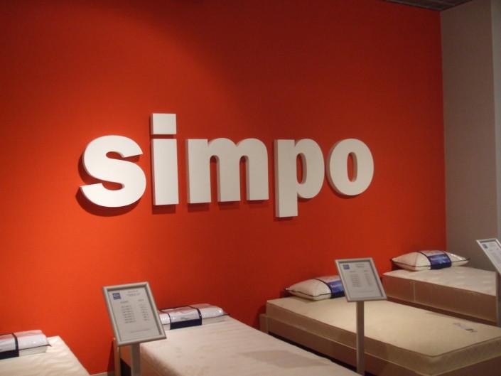 Несветещи обемни букви за марка Simpo