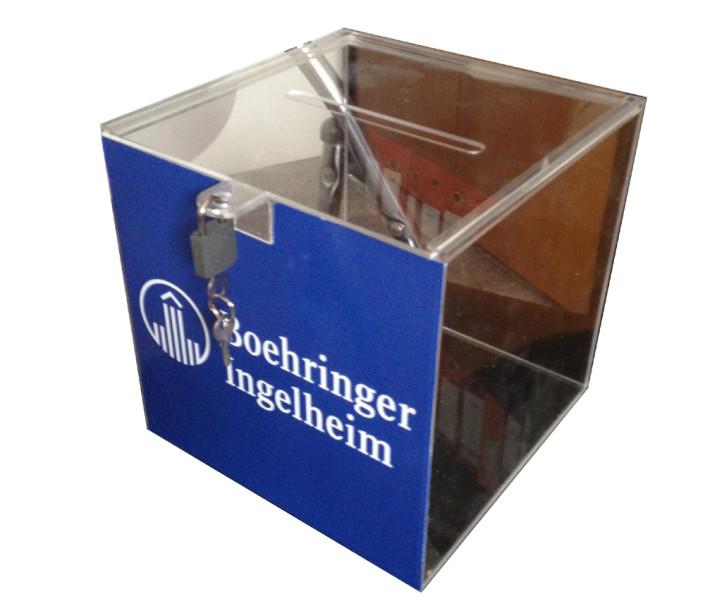 Урни от плексиглас /касичка/ за Boehringer ingelheim