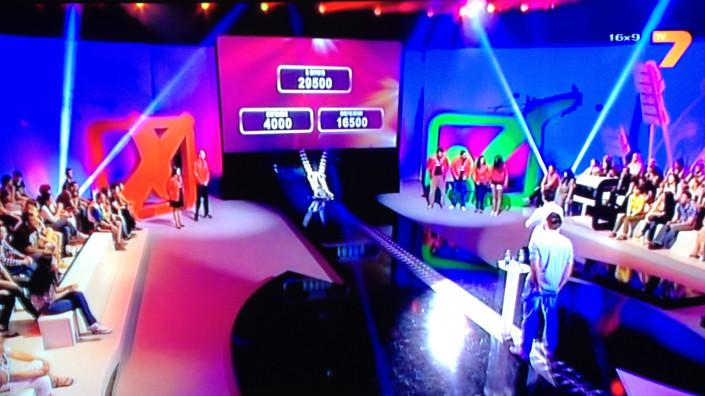 """Декори, светещи обемни знаци за телевизионното предаване на ТВ7 """"Съблечи си късмета"""""""
