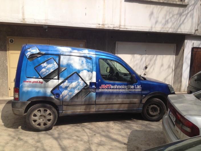 Брандиране на превозни средства за JMTechnologies Ltd.