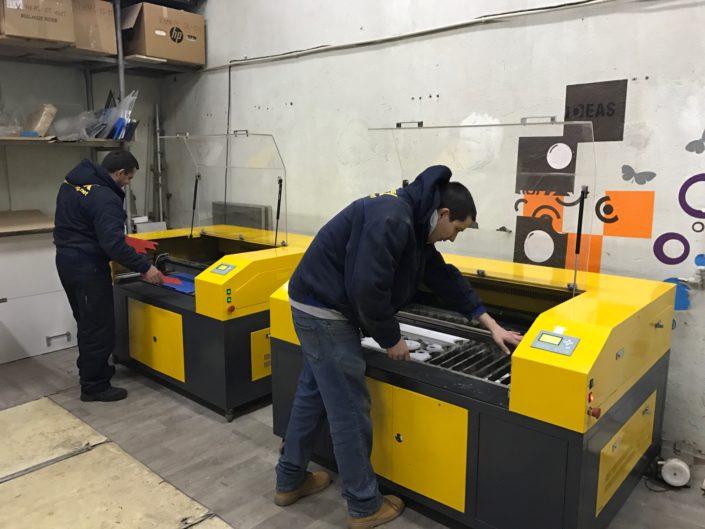 Лазерни машини за рязане с работна площ 1200 х 900 мм